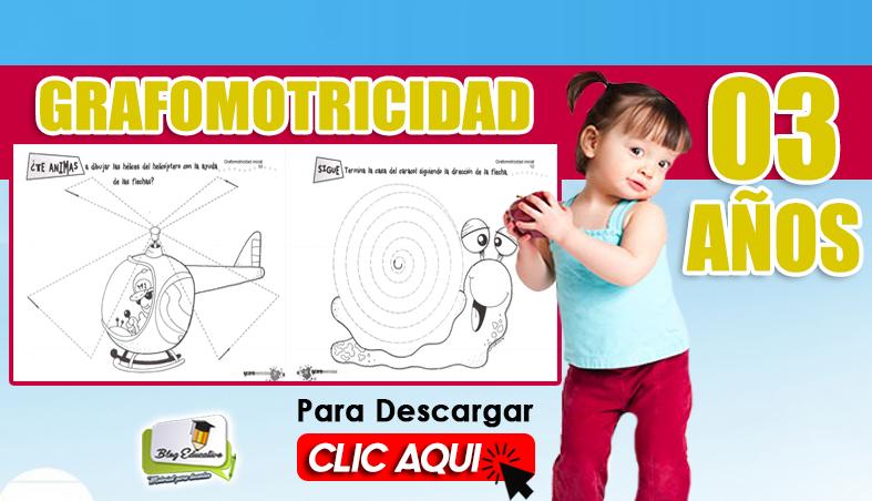 Grafomotricidad para 03 Años Gratis - Blog Educativo