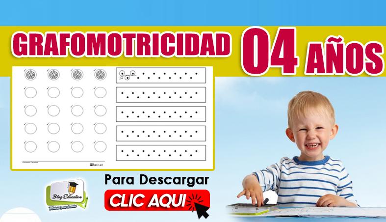 Grafomotricidad para 04 Años Gratis - Blog Educativo