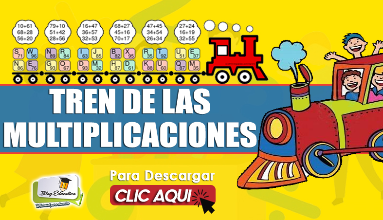 Cuadernillo Tren de Multiplicaciones - Blog Educativo