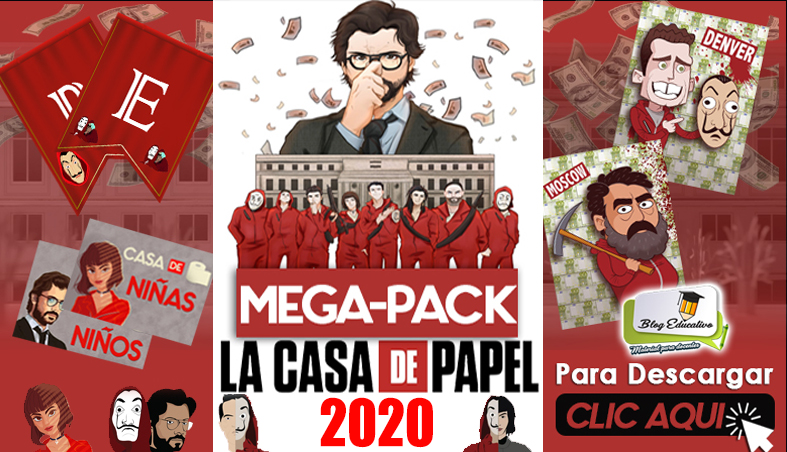 Mega Pack - Casa de Papel gratis - Blog Educativo