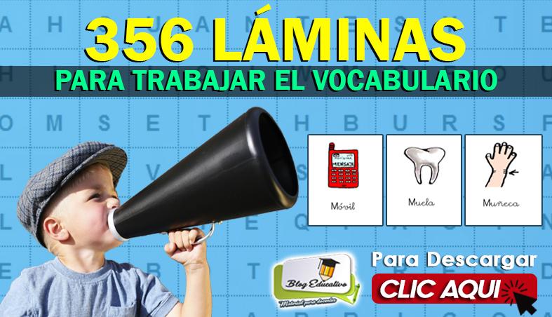 356 Láminas para Trabajar el Vocabulario - Blog Educativa