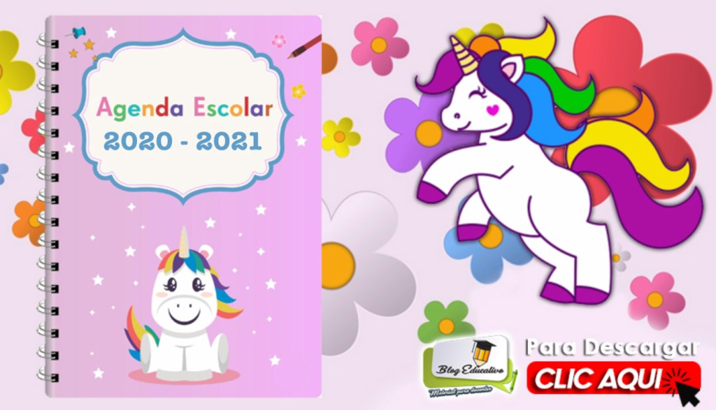 Agenda Escolar 2020 2021 editable gratis - Blog Educativo
