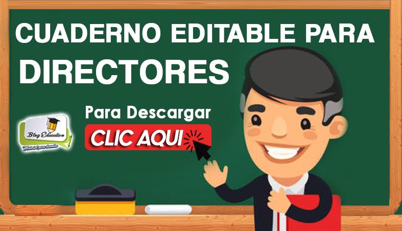 Cuaderno Editable para Directores - Blog Educativo