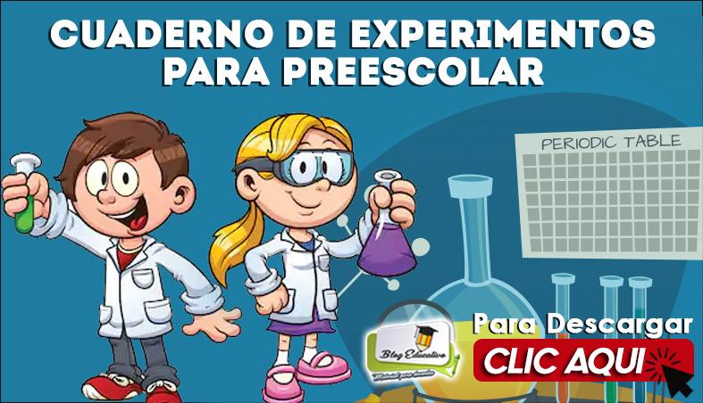 Cuaderno de Experimentos para Preescolar - Blog Educativo