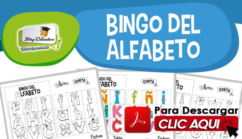 EL Bingo del Alfabeto juega aprendiendo para Niños