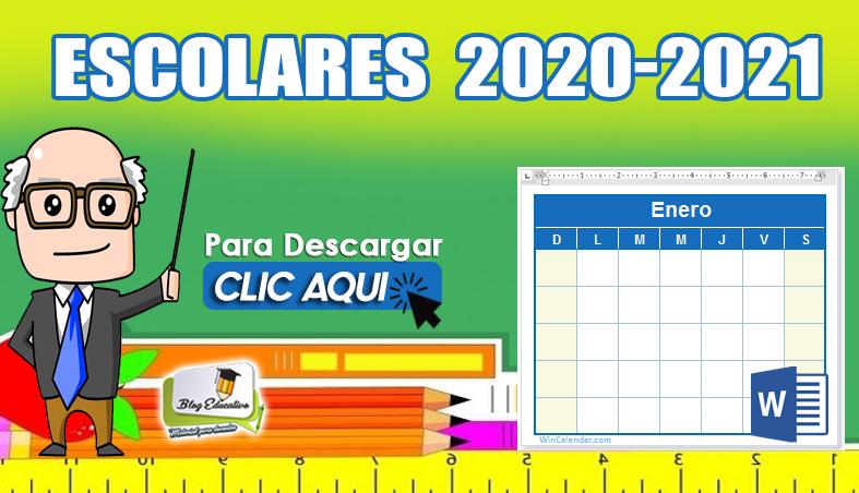 Calendario Escolar para Comenzar el Año 2020 - 2021