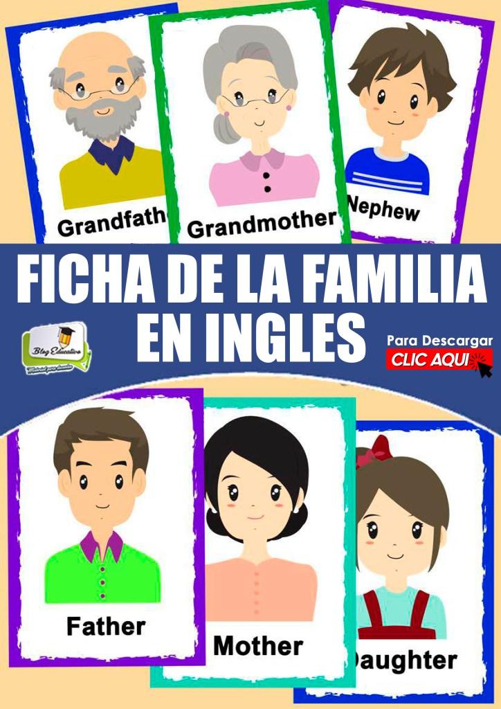 Fichas de la Familia en Ingles gratis - Blog Educativo