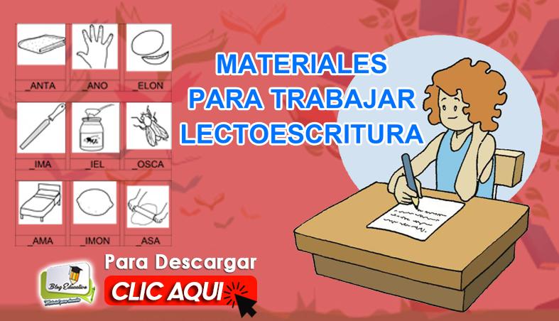 Materiales para Trabajar Letroescritura - Blog Educativo