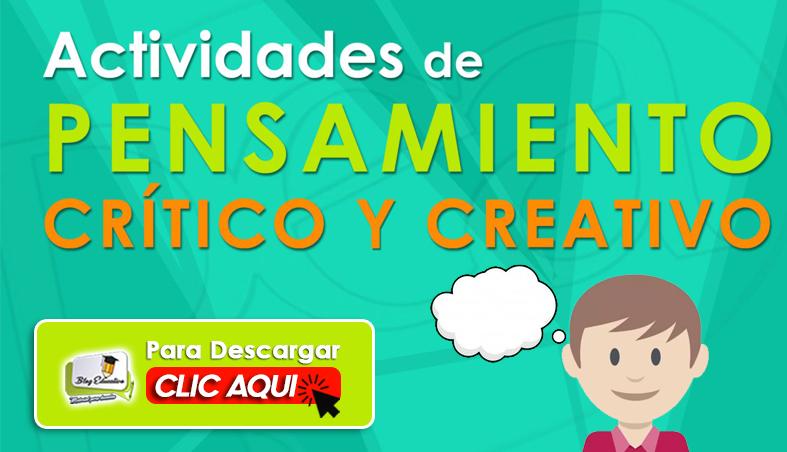 Actividades de Pensamiento Crítico y Creativo - Blog Educativo