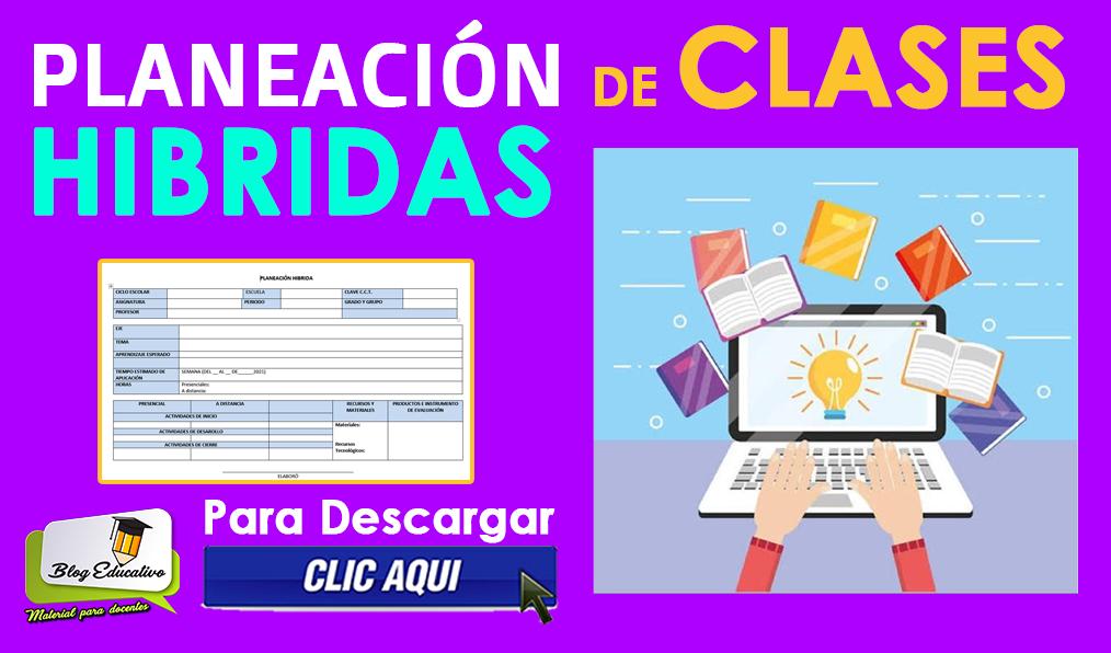 Formato de Planeación de Clases Hibridas Gratis Editables
