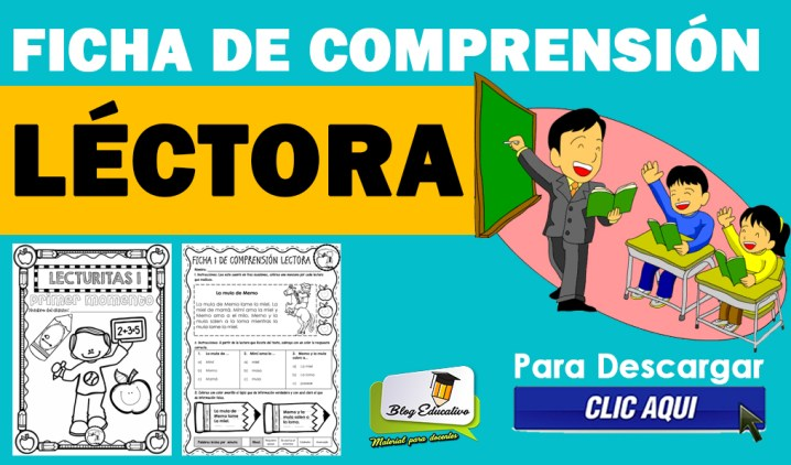 FICHA DE COMPRENSIÓN LÉCTORA GRATIS EN PDF