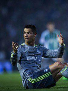 Cristiano, en el partido ante el Betis.