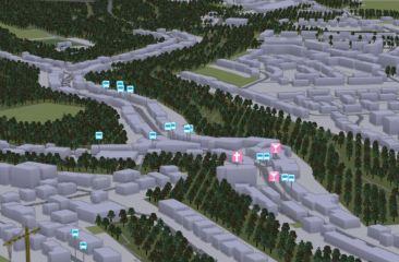 Carte 3D de l ensemble du Grand-Duche