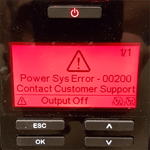 APC UPS Will Potentially Explode If Showing This Error When Turning It On