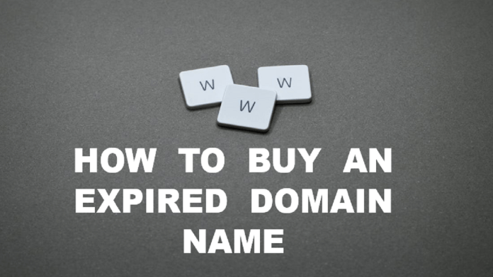 How to buy an expired domain name
