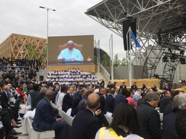 Cerimonia - messaggio di Papa Francesco