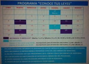 Programación Abril 2015 Centro Madrid Chamartín.