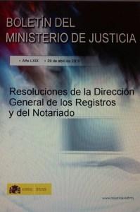 Resoluciones DGRN Julio 2014