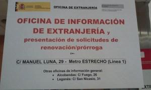 Foto aviso oficina de información de extranjería