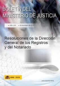 Portada resoluciones DGRN Agosto 2015