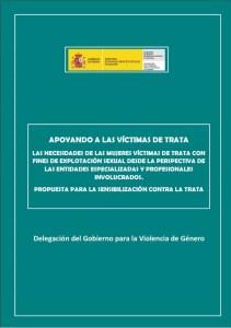 Foto portada informe apoyando a las víctimas de trata