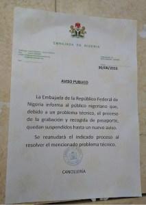 Aviso Embajada Nigeria 30.08.2016