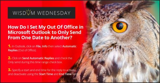 Microsoft Outlook Out Of Office