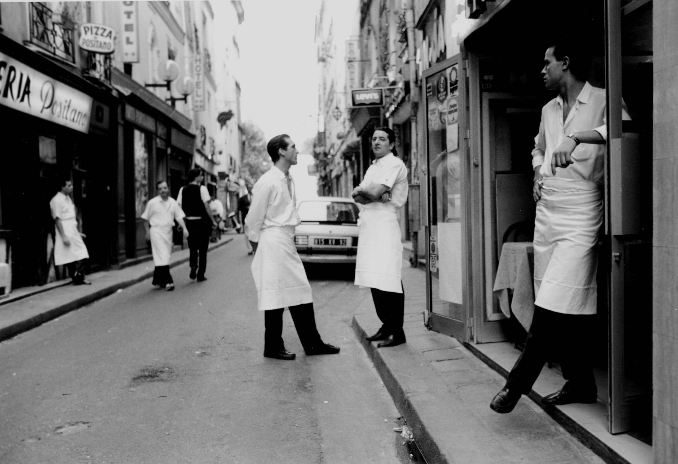 left bank waiters Paris-1