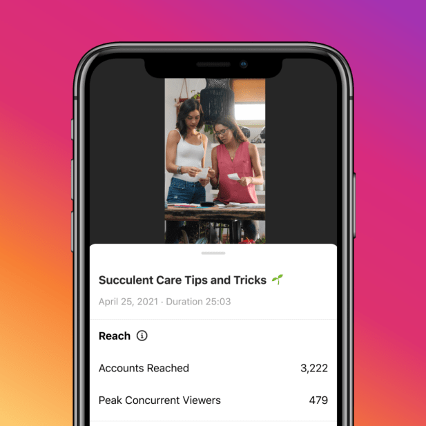 Instagram Live insights tool
