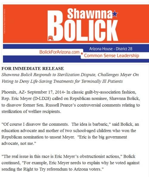 bolick press release
