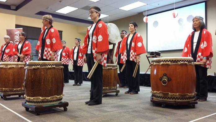 Odaiko Sonora doing the opening welcome. Photo credit Brandy Gannon