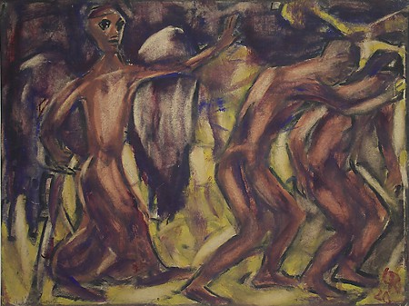 Expulsion from Paradise by Christian Rohlfs, courtesy of UA Museum of Art