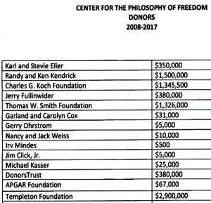 Freedom Center Donors