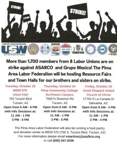 ASARCO Workers: Resource Fair & Info Town Hall for Strikers & Families @ Good Shepard United Church of Christ