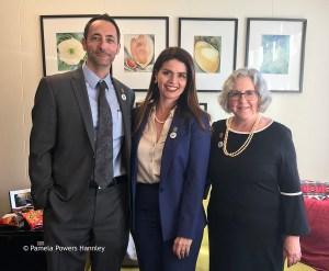 Domingo DeGrazia, Mayor Regina Romero and Pam Powers Hannley