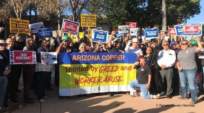 ASARCO strikers at Arizona Legislature