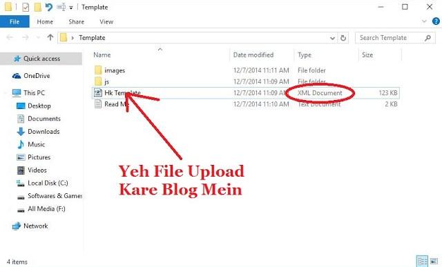 Upload Blogger Template