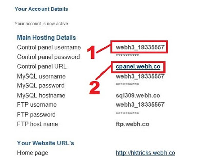 Hosting Account Detail