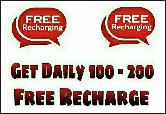 Get Daily 100- 200 Free Recharge