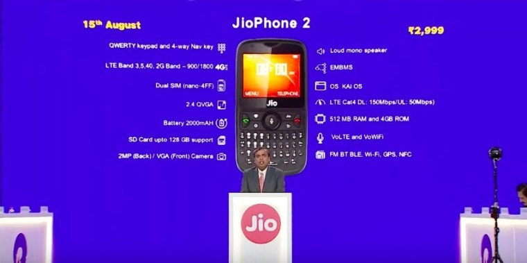 Reliance jio phone 2 ki jankari hindi me
