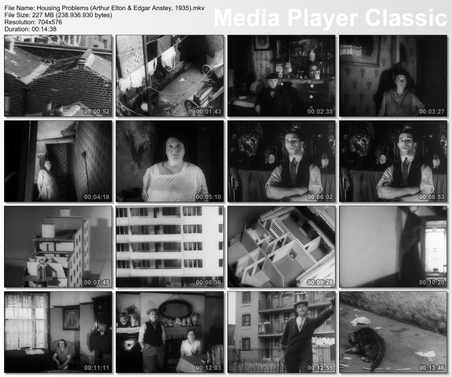 Still frames from Housing Problems (Arthur Elton & Edgar Anstey, 1935)