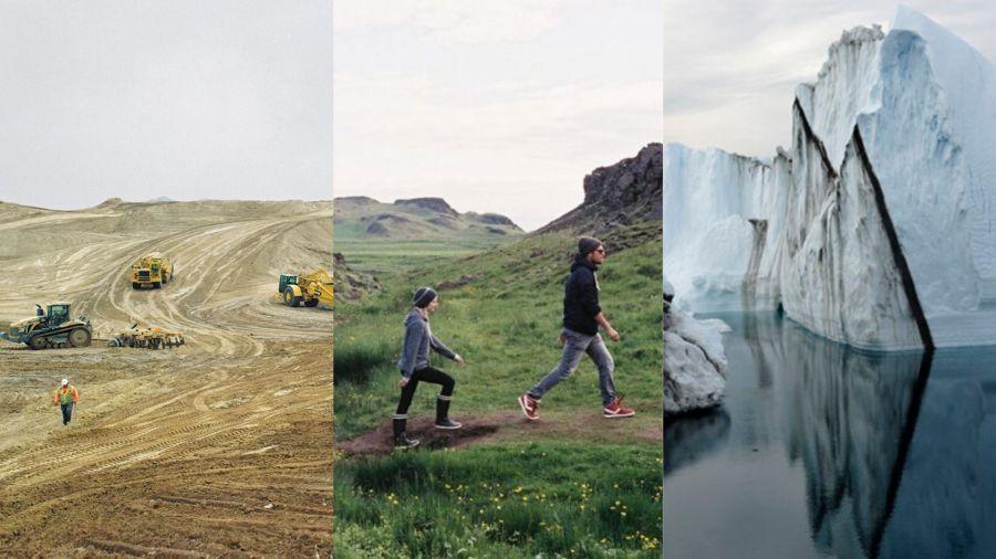 Montaje de fotogramas de los documentales Earth, Demain y Chasing Ice.