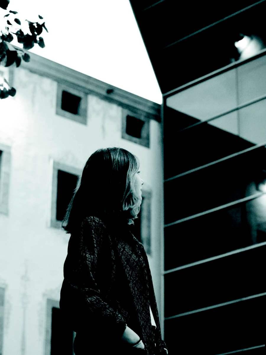 Silvia Domene, en el patio del Centro Cultura Contemporánea de Barcelona.