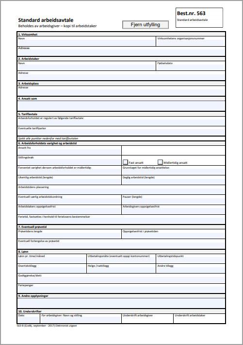 standard-arbeidsavtale-arbeidstilsynet