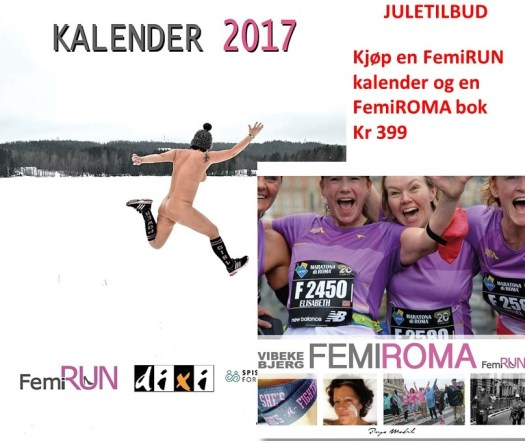 FemiRUN Kaleder 2017 - Boken FemiROMA til FemiRUN