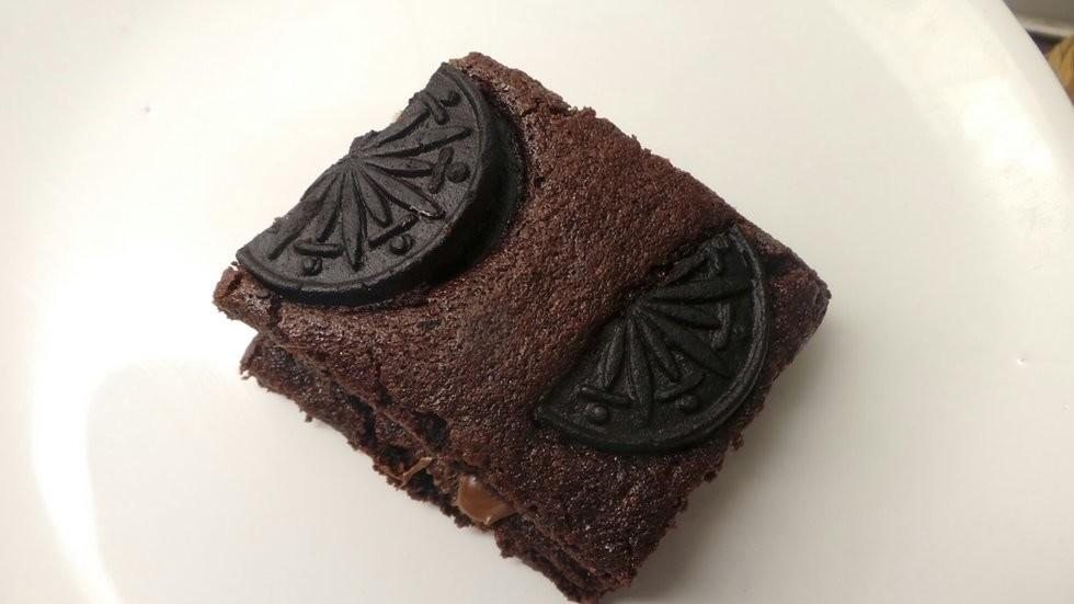 choklad nutella oreo brownie