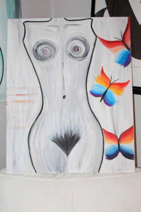 konst_målning_akrylmålning_astrakt_tavla_kvinna_fjäril_painting_abstract