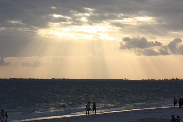 Innan solnedgång Fort Myers Beach
