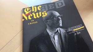 Snyggt omslag när Wired tar sig an tidningskrisen.