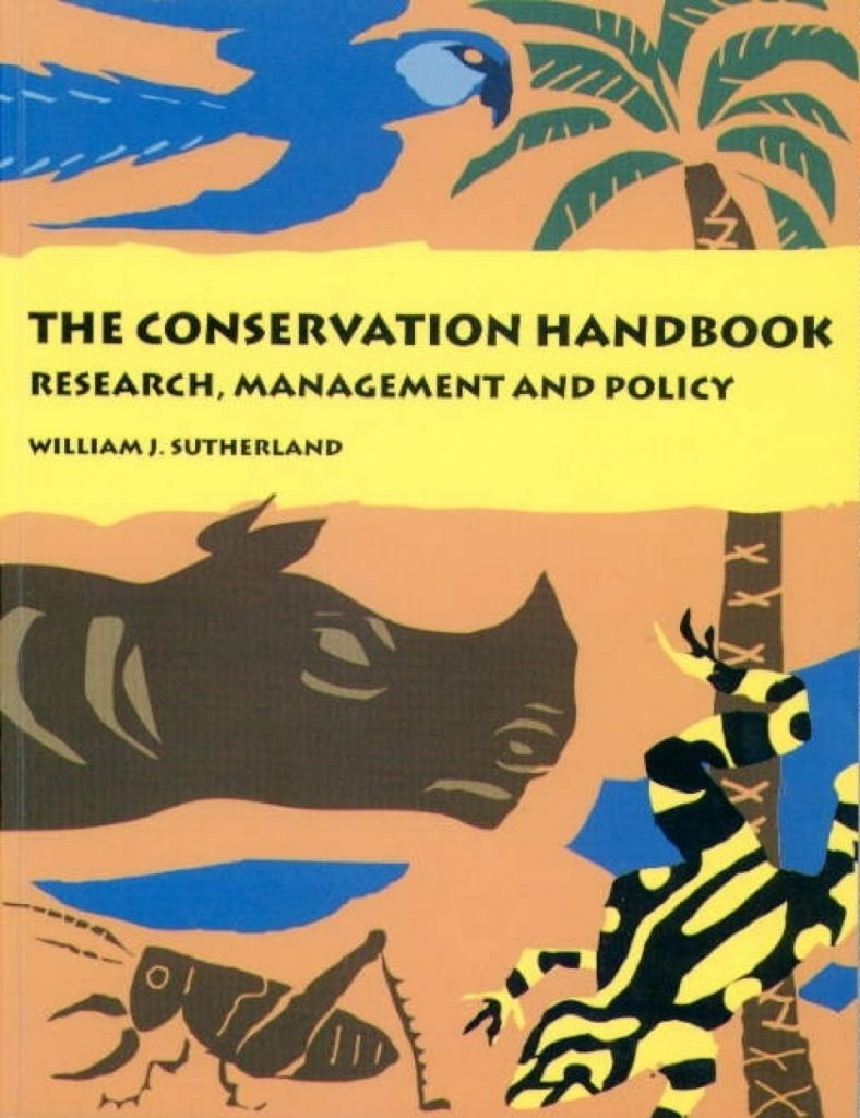 Published in 2000, the Conservation Handook was sent free to students in developing countries worldwide
